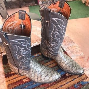 Other - Men's Ant Eater Print Leather Cowboy Boots